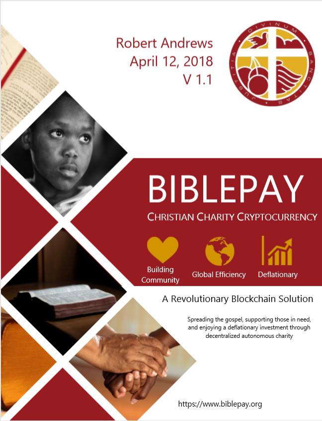 BiblePay White Paper April 2018